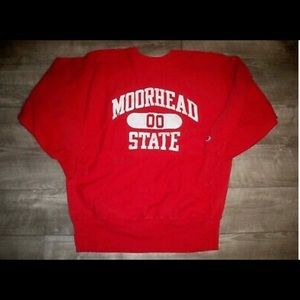 Vtg Champion Moorhead Reverse Weave Sweatshirt XL